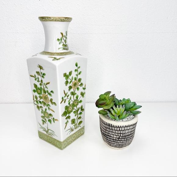 Vintage Norleans Japan Floral Vase 14 in.
